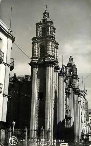 RPPC of Iglesia De La Proffsa Mexico City Mexico
