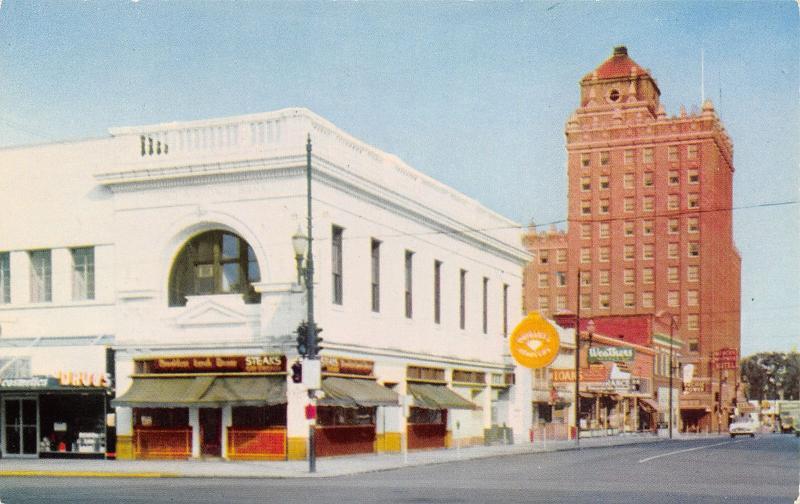 Walla Walla Washington~2nd Ave~Breakfast Lunch Dinner: Steaks~Cafe~Weathers~1960