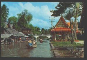 109137 THAILAND BANGKOK View of Klong Canal Old photo postcard