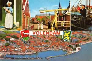 Netherlands Postcard Volendam, Holland, Multiview K93