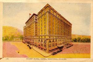 Canada - Quebec, Montreal. Mount Royal Hotel