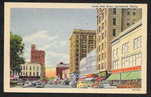 South Fifth Street Springfield Illinois Unused c1949