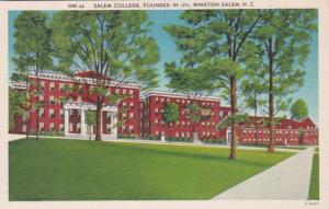 North Carolina Winston Salem Salem College Founded 1771