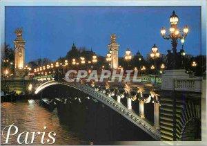 Modern Postcard Pont Alexandre III (1897 1900) and Paris Wonders builds Jean ...