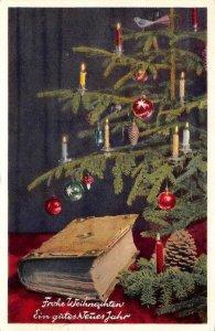 Frohe Weihnachten Ein gutes Neues Jahr Christmas Tree Happy New Year Postcard