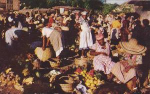 Market Scene , Jamaica , 40-60s