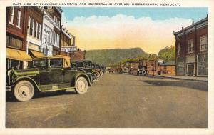Middlesboro Kentucky Pinnacle Mountain East Side Scene Antique Postcard K12542