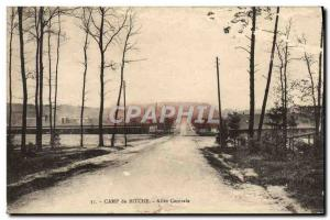 Old Postcard Camp De Bitche Central Allee Army