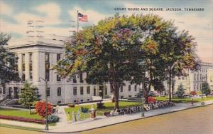 Court House And Square Jackson Tennessee 1943