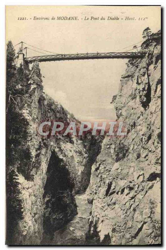 Old Postcard Around Modane Le Pont du Diable