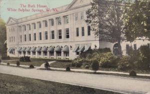 WHITE SULPHUR SPRINGS, West Virginia, PU-1916; The Bath House