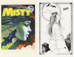 Misty August 1978 The Only One Witch 2x Comic Book Postcard s