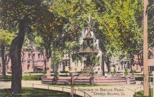 Iowa Council Bluffs Fountain In Baylis Park
