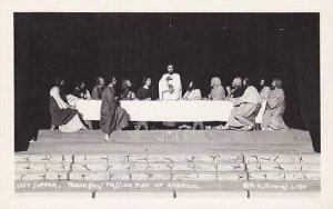 South Dakota Spearfish Black Hills Passion Play Last Supper Real Photo RPPC