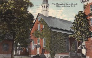 WINSTON-SALEM, North Carolina, PU-1918; The Morovian Home Church