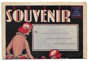 1931 Pasadena Tournament of Roses Souvenir Post Card Fold Out, unmailed