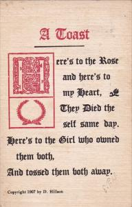 Humour A Toast To The Rose 1907