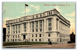 Vintage 1912 Postcard Panoramic View The Municipal Building Washington DC
