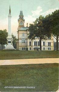 View of Court House and Monument Waukegan Illinois IL D/B