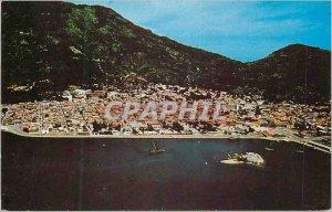 Modern Postcard Haiti West Indies Aerial Close up of City of Cap Haitien form...