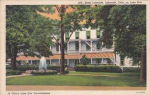 Ohio Lakeside Hotel Lakeside On Lake Erie 1942 Curteich
