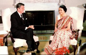 President Ronald Reagan With India's Prime Minister Indire Ghandi 29 Jul...