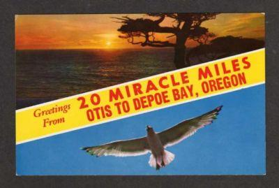OH Greetings from OTIS to DEPOE BAY OHIO Postcard PC