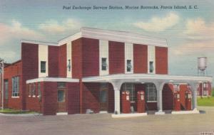 PARRIS ISLAND , SC , 30-40s ; Post Exchange Service Station, Marine Barracks