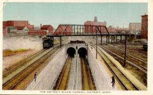 MI - Detroit. The Detroit River Tunnel (Railroad)