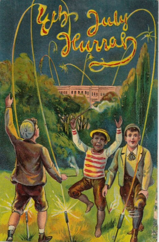 Kids ; July Fourth Fireworks , 1910