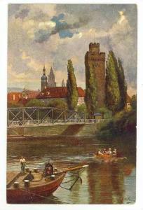 Partie Am Nedar Mit Dem Gobenturm, Heilbronn (Baden-Württemberg,) Germany, 1...