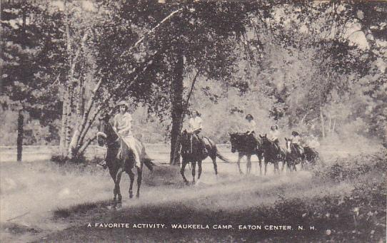 Horseback Riding Waukeela Camp Eaton Center New Hampshire