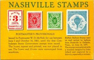 Nashville Stamps History TN Postcard unused 1991