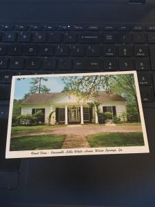 Vintage Postcard:  FDR, Roosevelt's Little Whitehouse Warm Springs GA