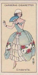 Carreras Vintage Cigarette Card Figures Of Fiction 1924 No 3 Cinderella