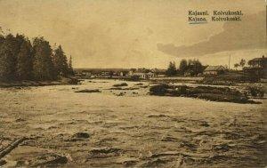 finland suomi, KAJAANI KAJANA, Koivukoski, River Scene (1910s) Postcard