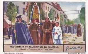 Liebig Vintage Trade Card S1341 Processions & Pilgrimages in Belgium No 4 Pro...