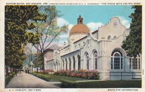 HOT SPRINGS, Arkansas, 1900-1910s; Quapaw Baths, The House With The Big Dome