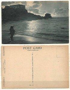 JUDAICA BRITISH PALESTINE POSTCARD 1921 THE RRUINS OF CESAREA