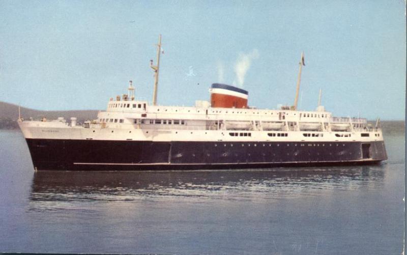 Car Ferry Bluenose - Bar Harbor, Maine - Yarmouth, Nova Scotia - pm 1957