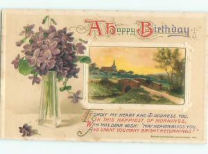 Divided-Back GREAT SCENE Greeting Postcard AA6897