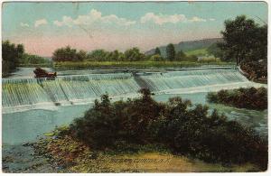 1908 Clinton NY The Dam Oneida County New York RARE DB Rotograph Co. Postcard