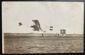 Mint RPPC Real Picture Postcard Early Aviation Biplane Air Race