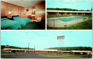 Calhoun, Georgia Postcard SHEPHERD MOTEL & RESTAURANT Highway 53 Roadside 1960s