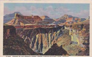 Arizona Grand Canyon Sunset In The Granite Gorge 1950 Fred Harvey