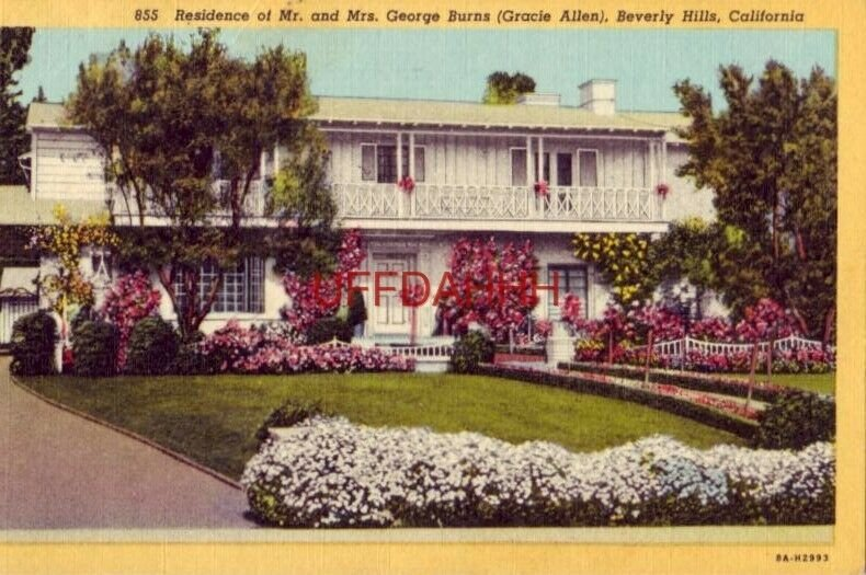 RESIDENCE OF MR and MRS GEORGE BURNS, BEVERLY HILLS, CALIFORNIA 1956
