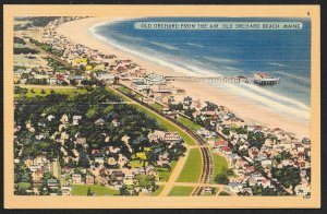 Old Orchard Beach birdseye view Old Orchard Beach Maine Unused c1930s
