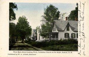 NH - Enfield. West Main Street, Unitarian Church