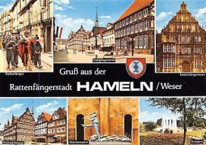 Hameln Weser, Rattenfaenger, Fussgaengerzone, Glockenspiele, Hochzeitshaus