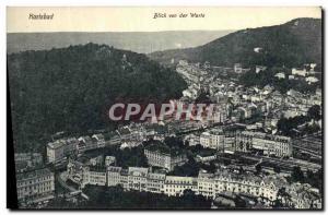 Old Postcard Karlsbad Blick von der Warte